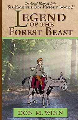 Cover of Legend of the Forest Beast by Don M. Winn showing black and white claw marks made by the mysterious beast behind green leaves.
